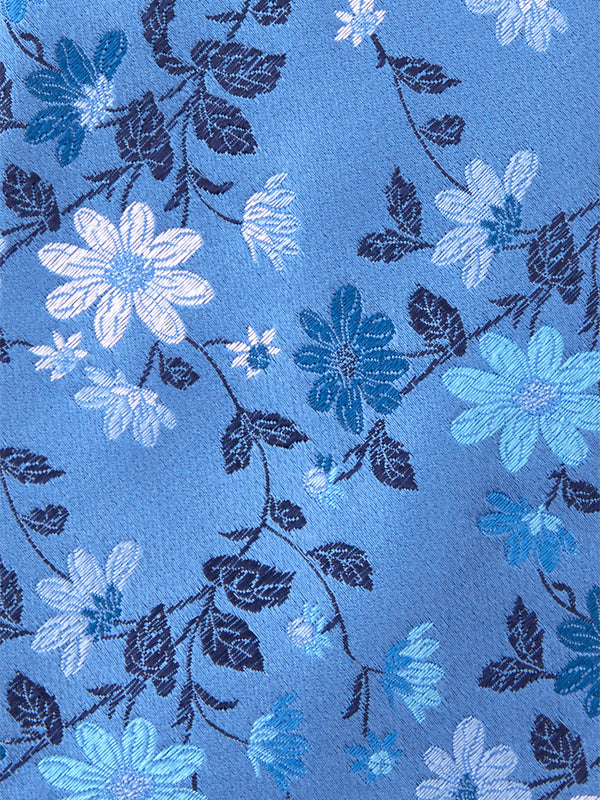 Fancy Floral Tie Blue