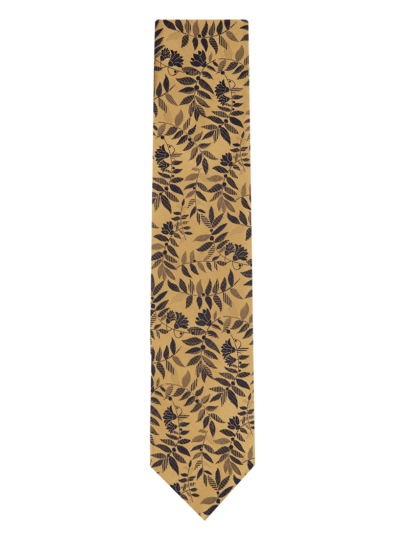 Tropical Floral Tie Yellow