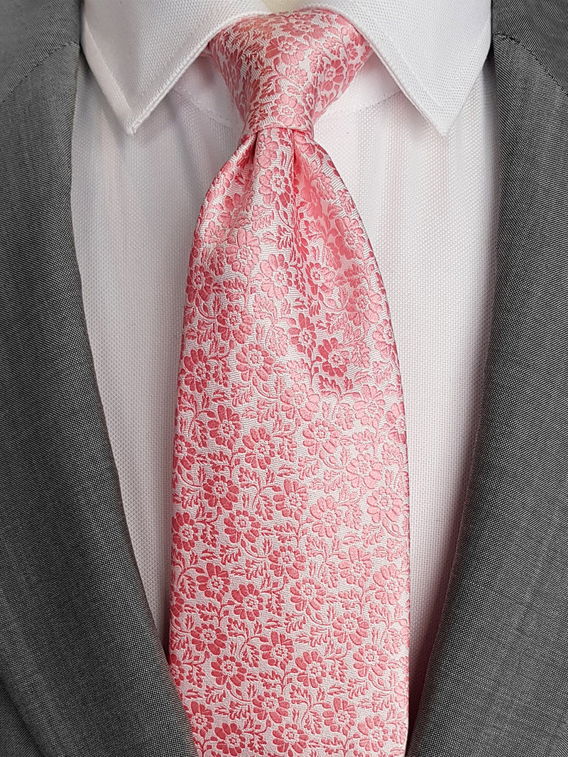 Pansy Two Colour Tie Pink