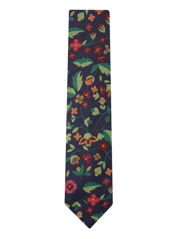 Forest Blossom Tie Navy