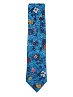 Jungle Flower Tie Blue