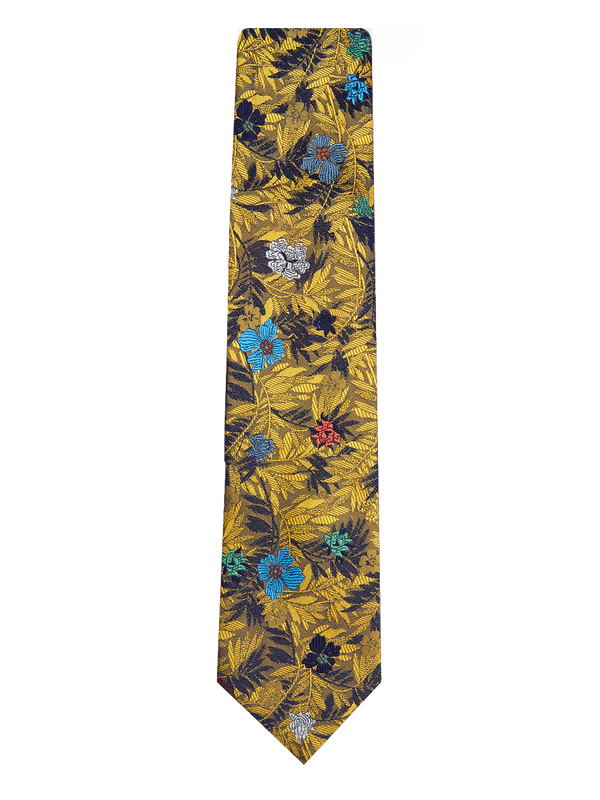 Jungle Flower Tie Yellow