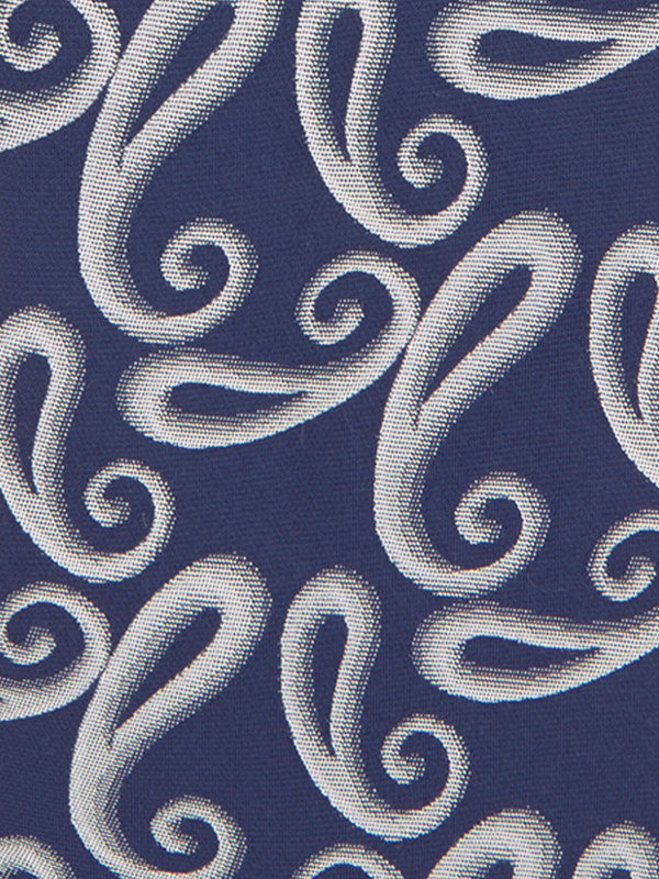 Shaded Paisley Tie Navy