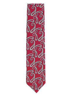 Shaded Paisley Tie Red