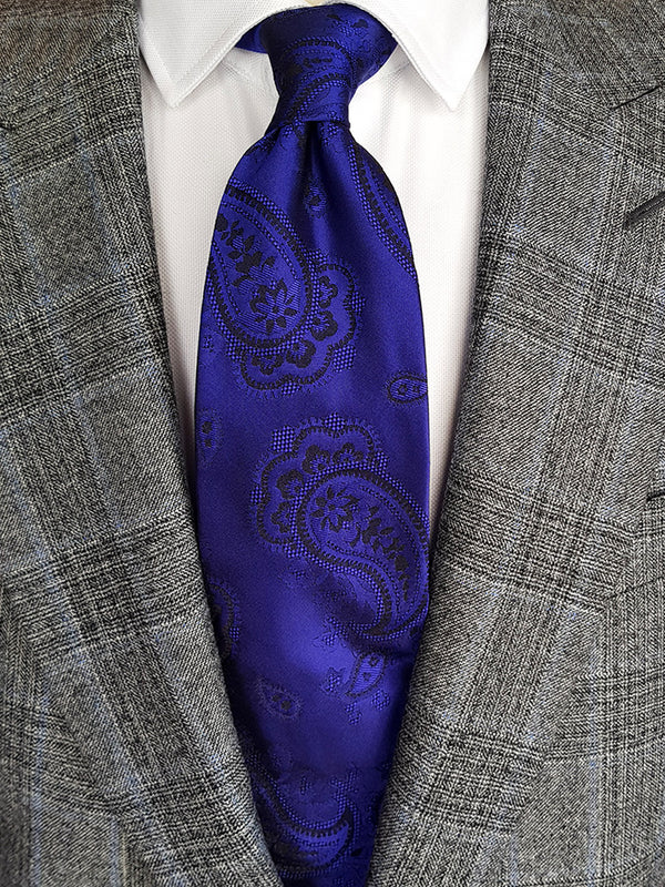 Colourful Paisley Tie Blue