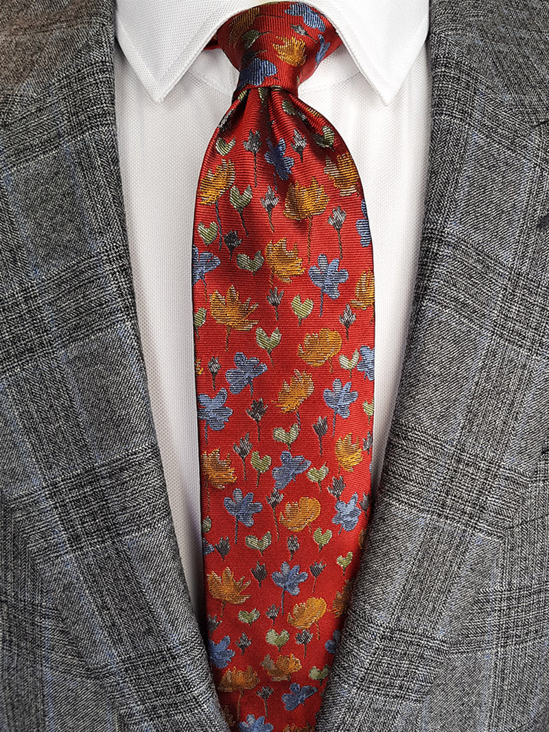 Wild Hearts Floral Tie Orange