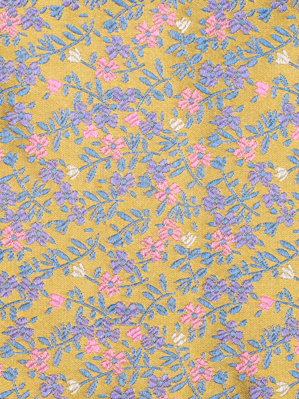 Micro Floral Tie Yellow