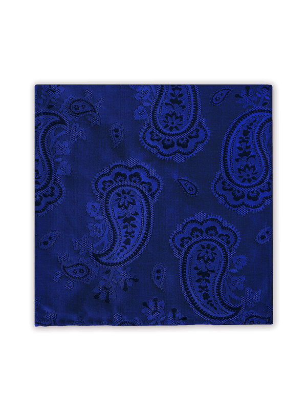 Colourful Paisley Pocket Square Blue
