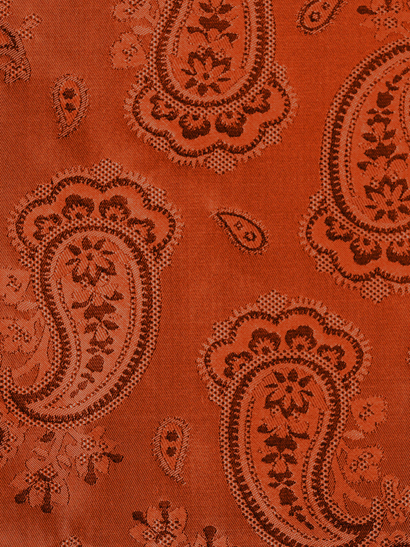 Colourful Paisley Pocket Square Orange