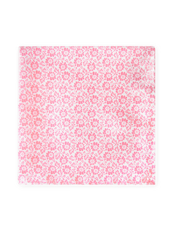 Pansy Two Colour Pocket Square Pink