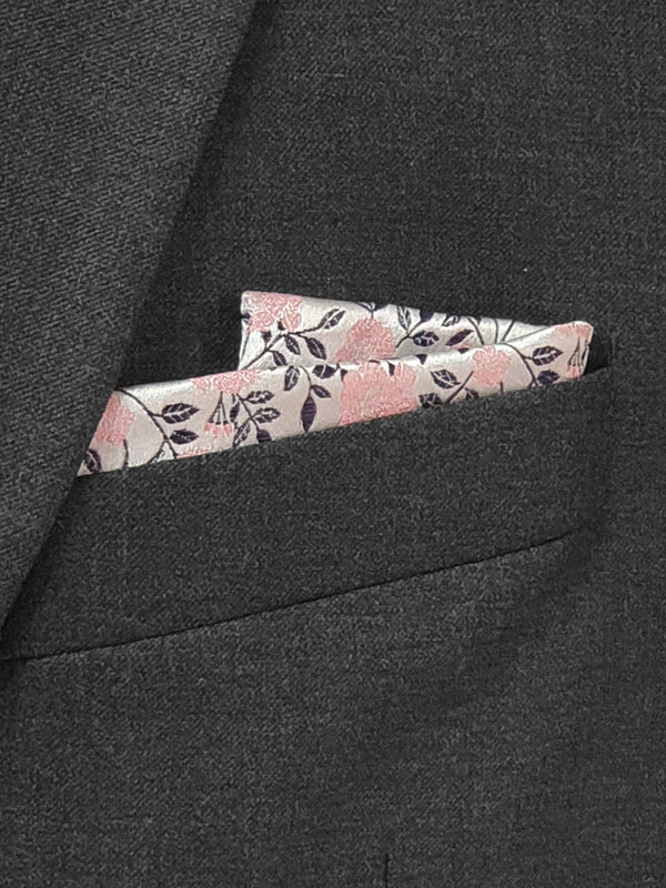 Spring Floral Pocket Square Pink