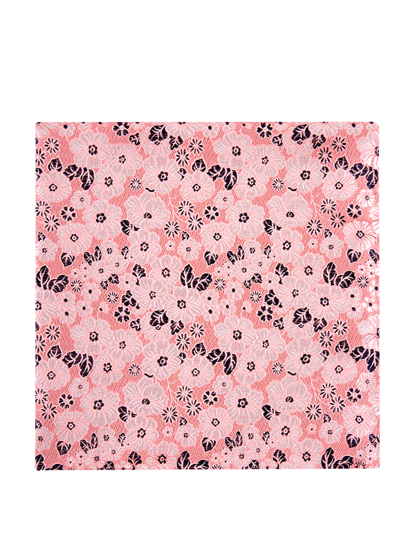 Artsy Floral Pocket Square Pink