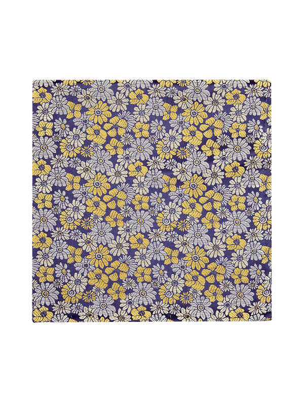 Pastel Floral Pocket Square Yellow