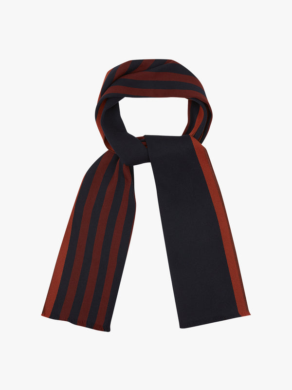 Ratio Stripe Scarf Navy
