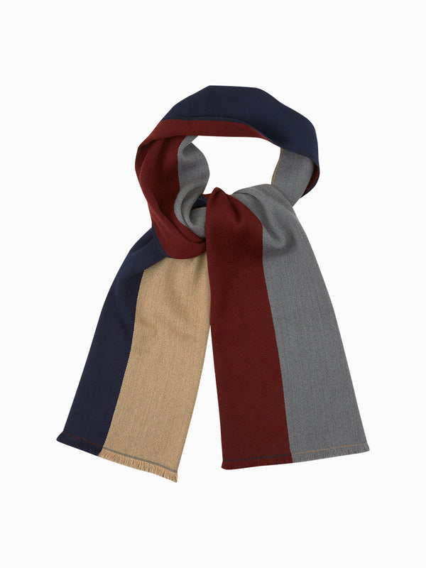 Quarter Stripe Scarf Navy