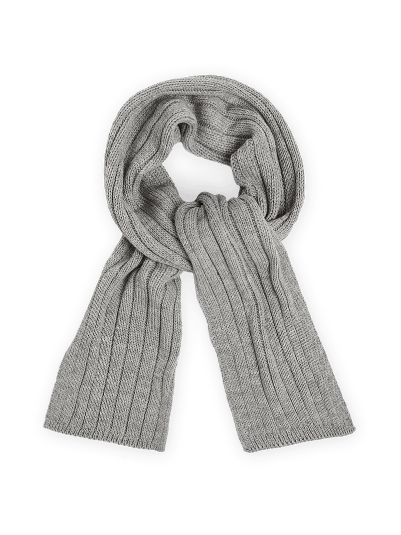 Merino Wool Cable Knit Scarf Grey