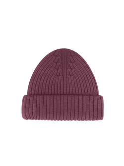 Merino Wool Hat Purple