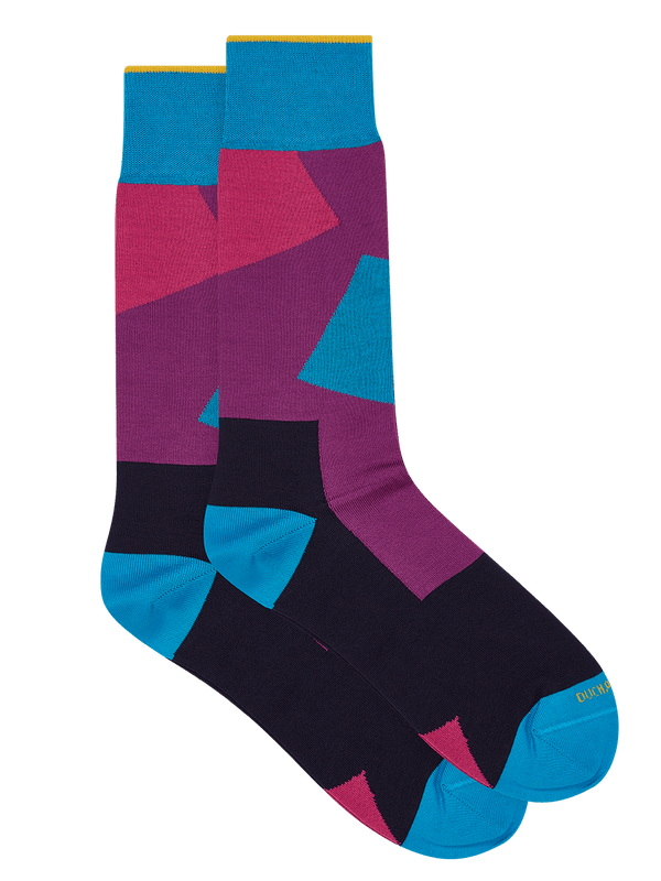 Modern Box Sock  Purple