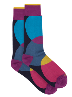 Ven Cirles Sock Purple
