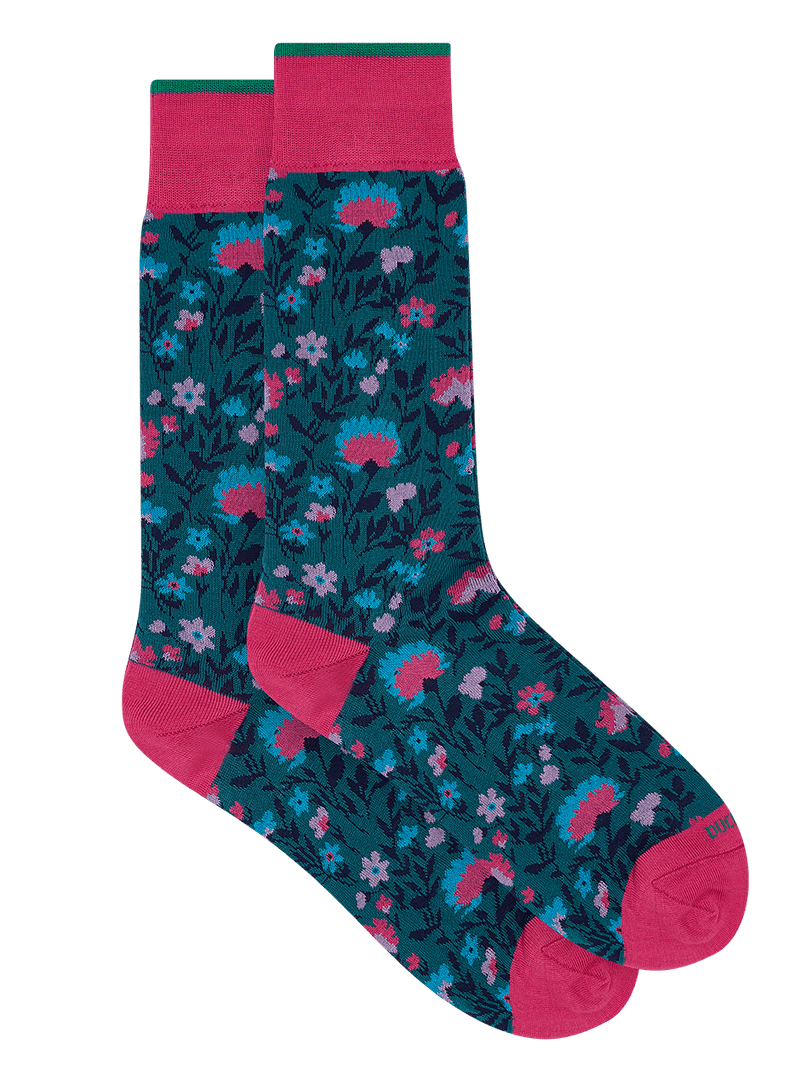 Floral Charm Sock Pink