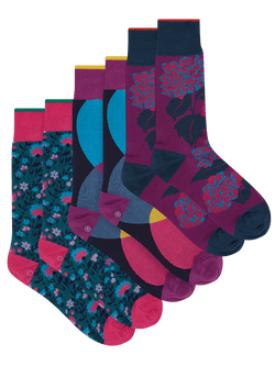 Charming Hydrangea Sock Set Purple