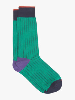 Bold-Plain-Sock-Green