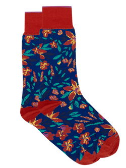 Mollie Floral Sock Red