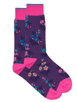 Night Floral Sock Purple