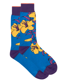 Lillie Floral Sock Blue
