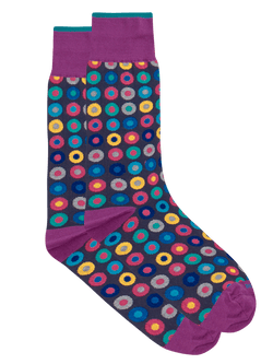 Skittle Dot Sock Navy