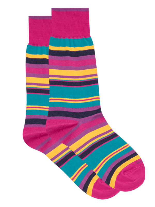 Nile Stripe Sock Pink