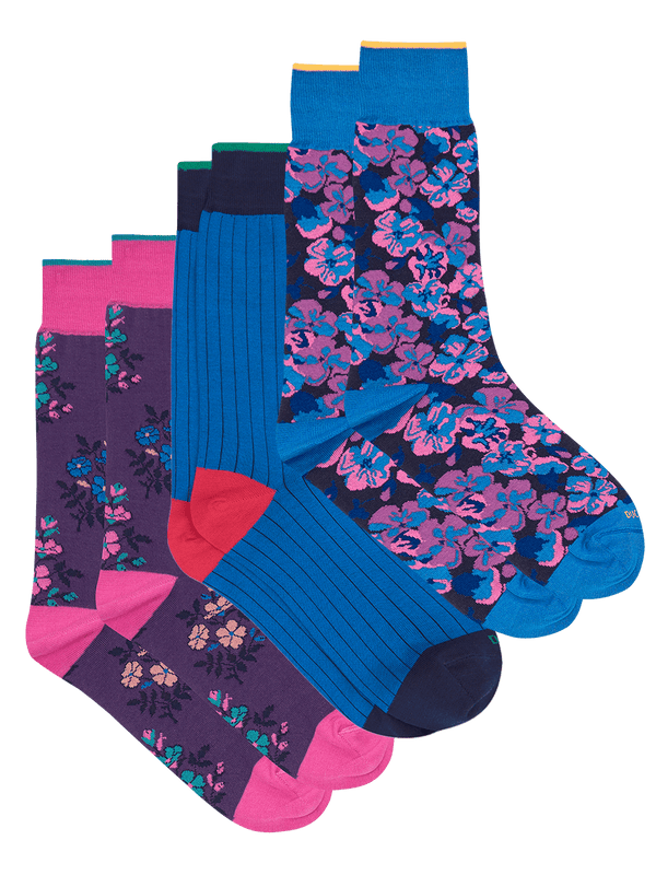 Bold Sock Set Purple