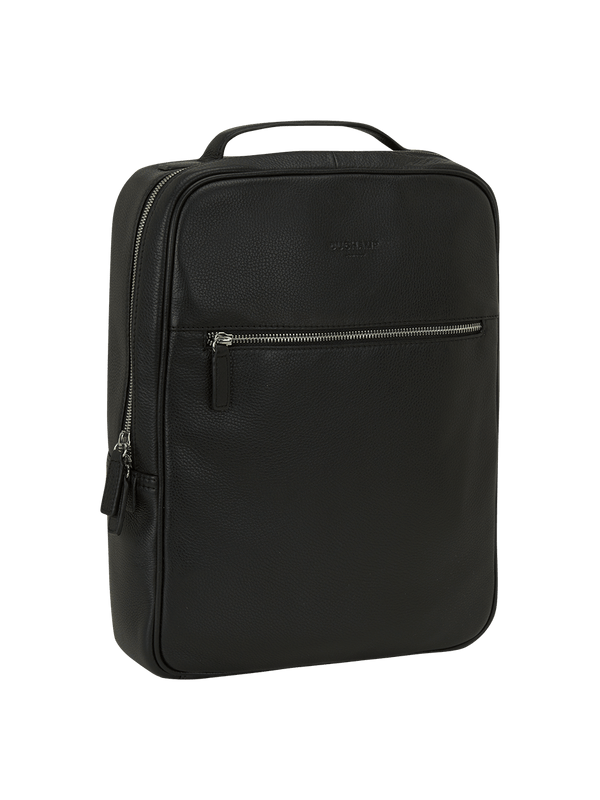 Casual Leather Backpack Black