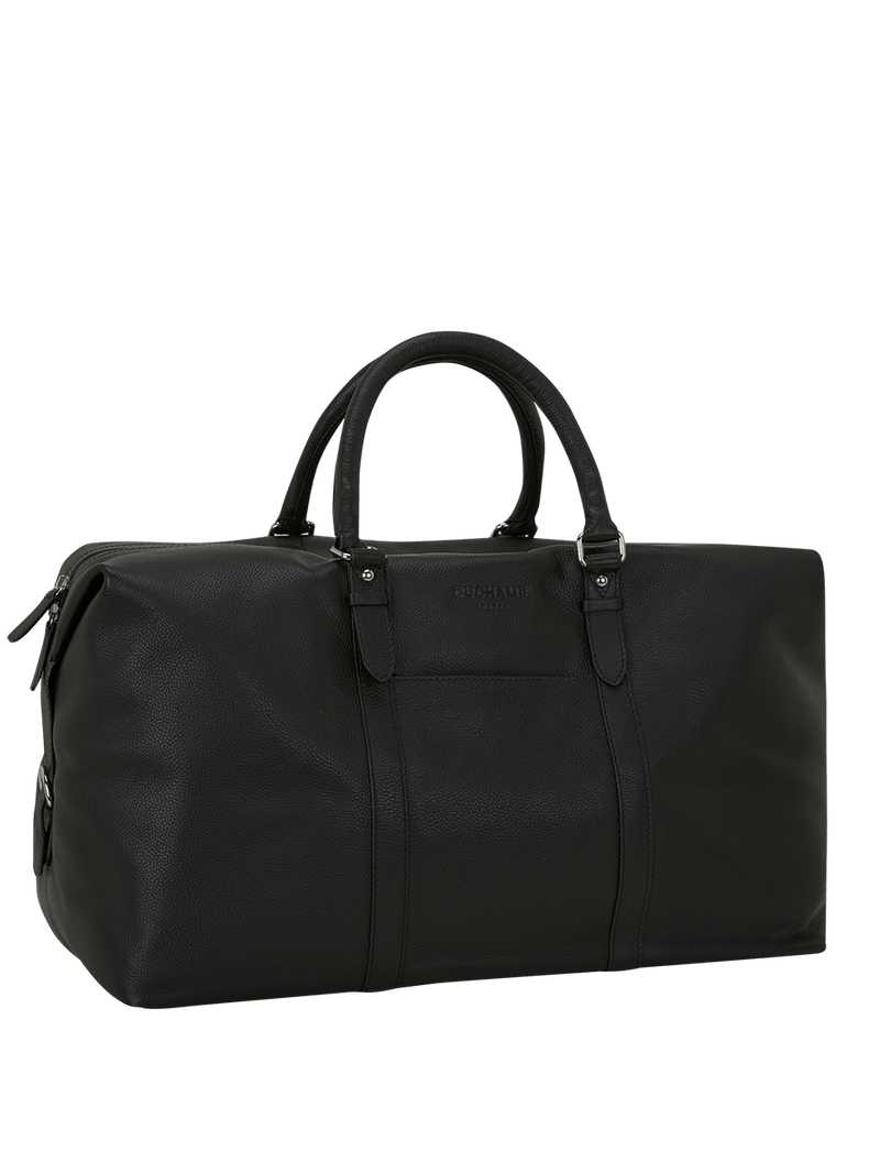 Leather Weekend Bag Black