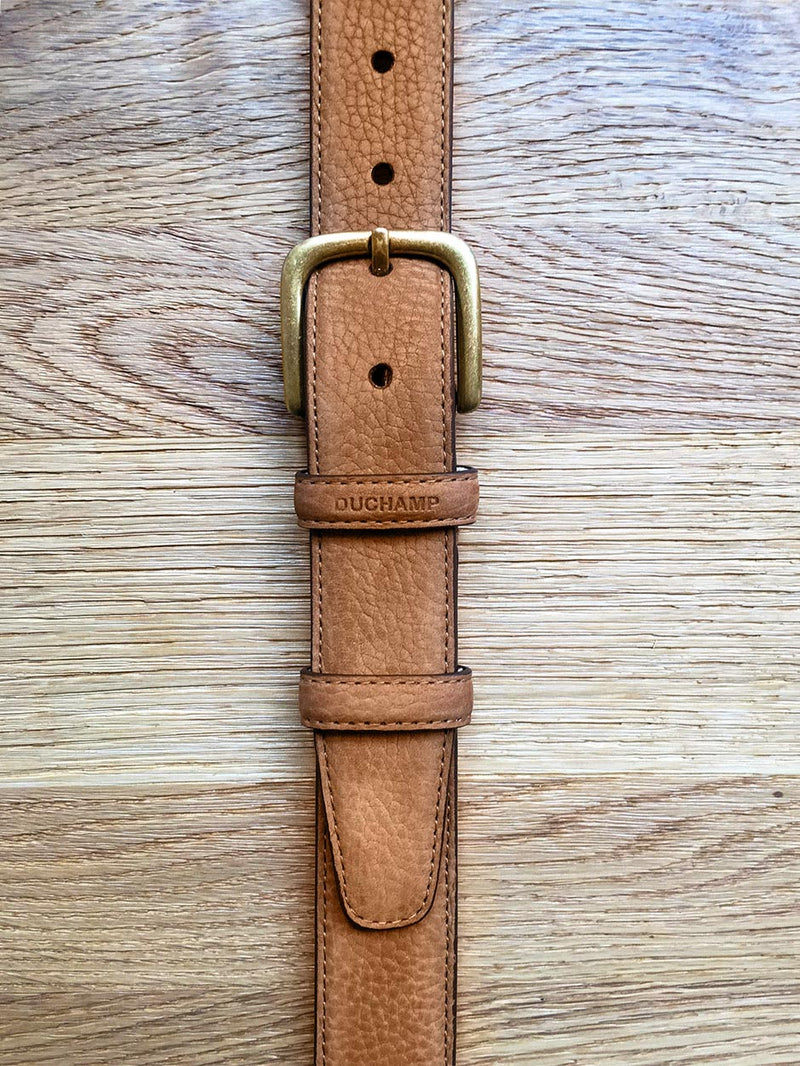 Classic Suede Belt Neutral