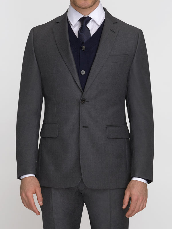 Notch Lapel 120s Twill Suit Grey