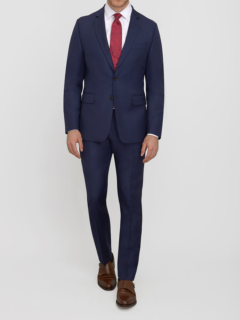 Notch Lapel 120s Twill Suit Navy