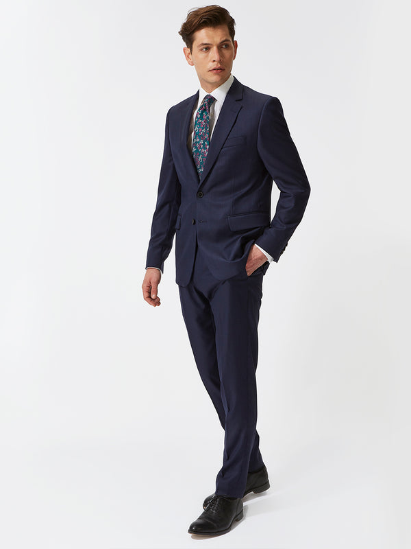 Notch Lapel 120s Wool Twill Suit Navy