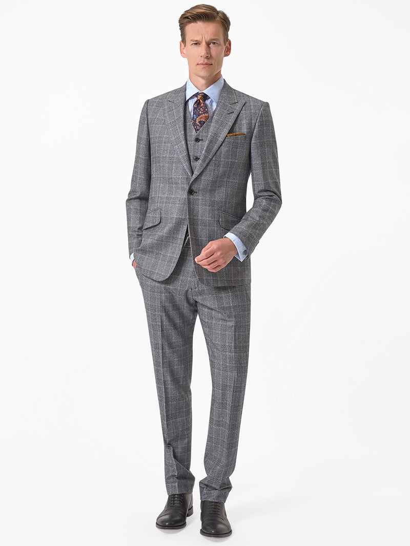 Peak-Feather-Check-Suit-Grey