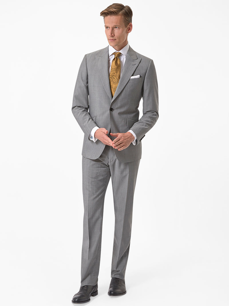 Peak Super Fine Kid Mohair Suit Grey