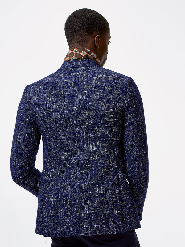 Peak Shadow Plain Blazer Navy