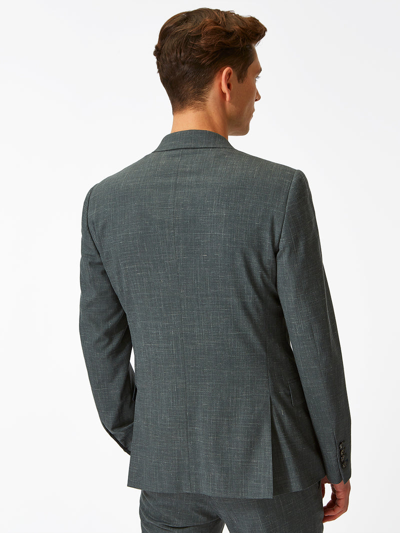 Micro Texture Jacket Green