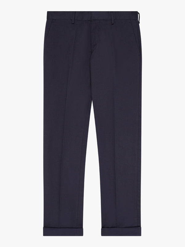Plain Fine Twill Trousers Navy