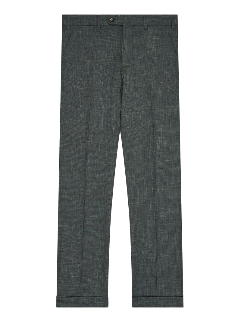 Micro Texture Trousers Green