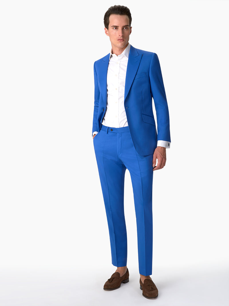 Mens-Plain-Suit-Blue