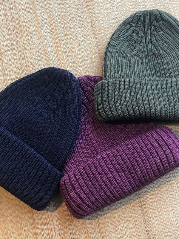 Merino Wool Hat Navy