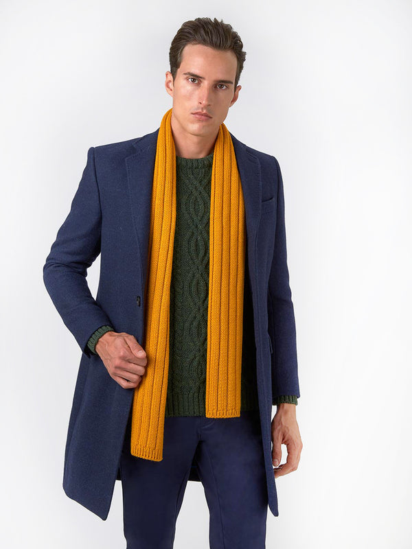 Notch-Plain-Milled-Wool-Coat-Blue