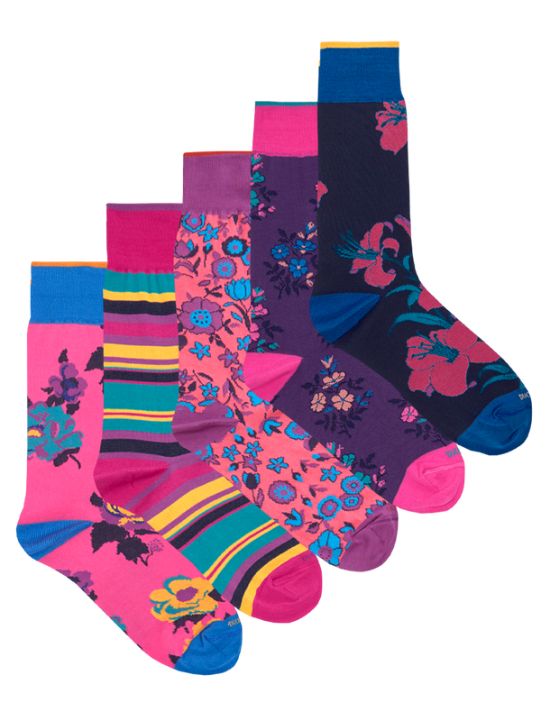 Monday to Friday Sock Set Pink