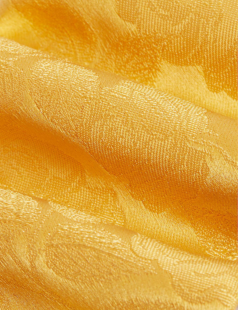 Large Rose Plain Tie Yellow