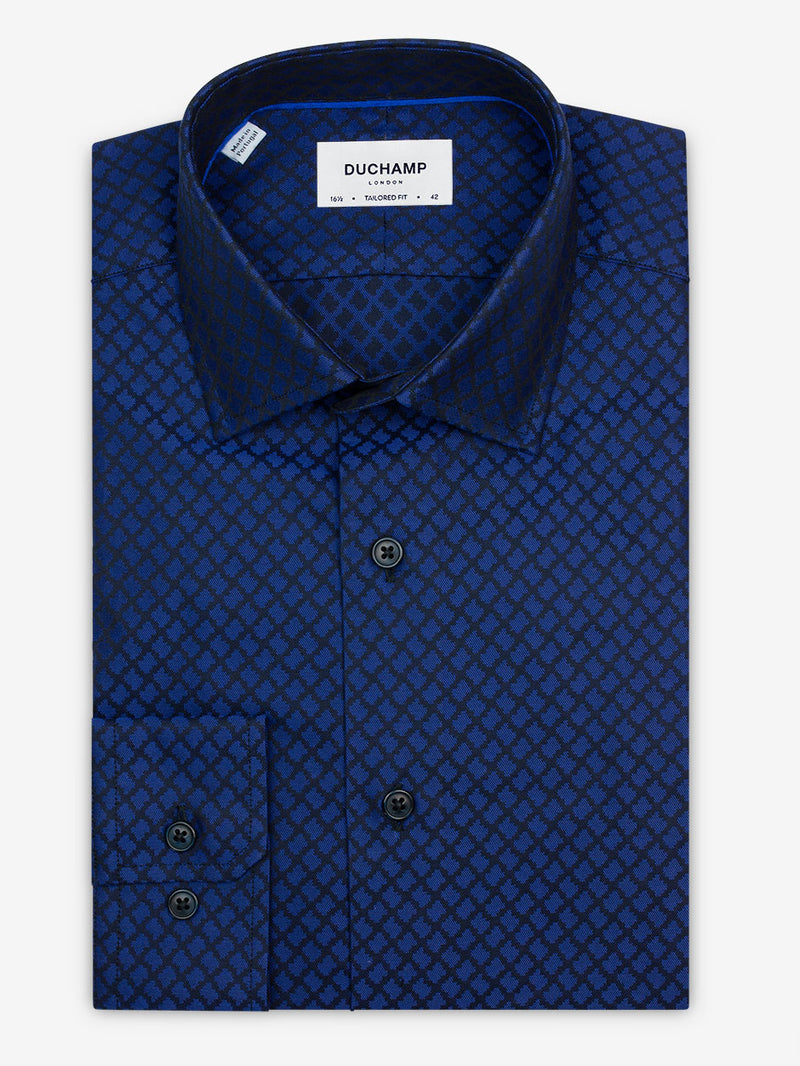 Jacquard-Shirt-Blue